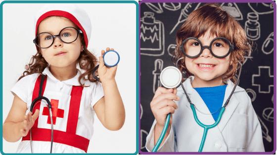 disfraz de enfermera y enfermero