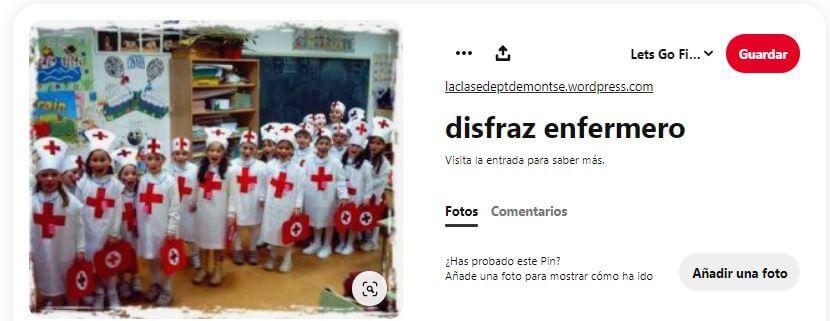 disfraz grupal de enfermero