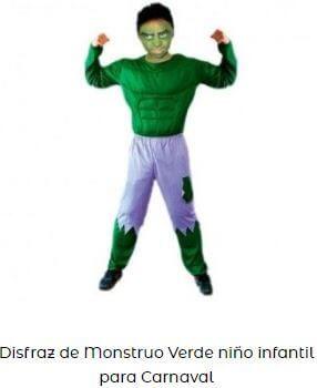 disfraz hulk disfraces friki hombre