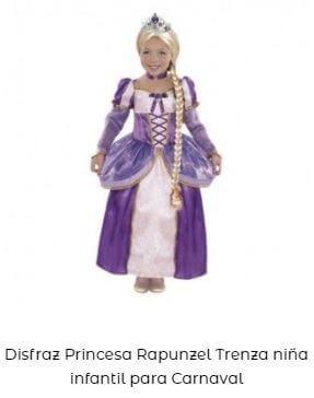 disfraz princesa Disney Rapunzel
