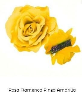 flor flamenca pinza amarilla