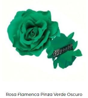 flor flamenca pinza verde