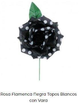 flor flamenca vara negra lunares