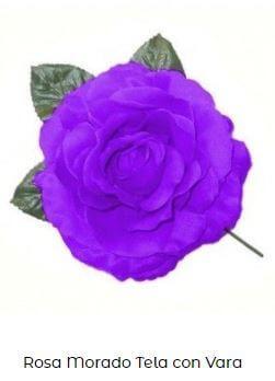 flor flamenca vara morada