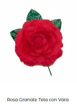 flor flamenca vara roja