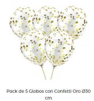 globos celebración confeti para bautizos en casa