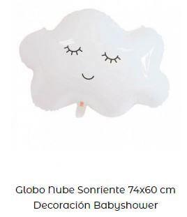 globos para decorar bautizos sencillos nubes
