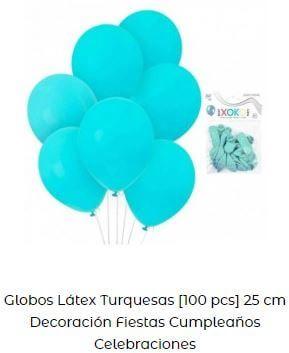 globos celebración turquesa