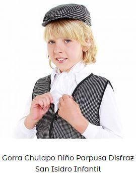 gorra de chulapo niño