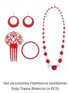 iideas para vestirse de flamenca set accesorios