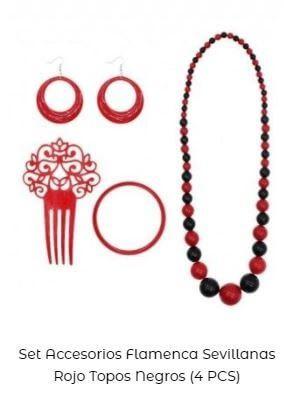 iideas para vestirse de flamenca set complementos