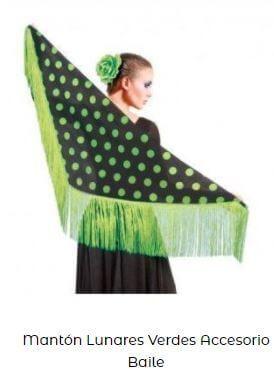 mantoncillo de flamenca mantón manila lunares