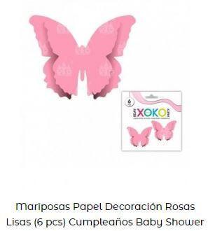 mariposas decoraión bautizos sencillos