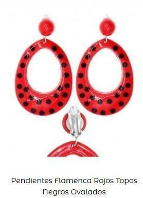 pendientes de flamenca vestido aros lunares