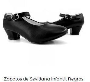 zapatos vestido flamenca niña
