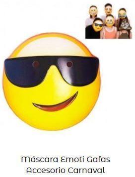 careta de emoji con gafas