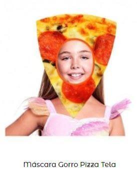 máscara de emoticono pizza