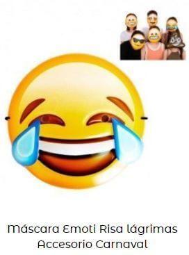 máscara de emoticono risa