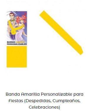 accesorios amarillo día más feliz año banda
