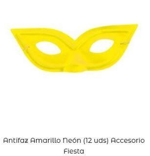 accesorios amarillo Yellow Day antifaz