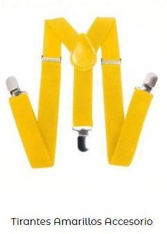 accesorios amarillo Yellow Day tirantes