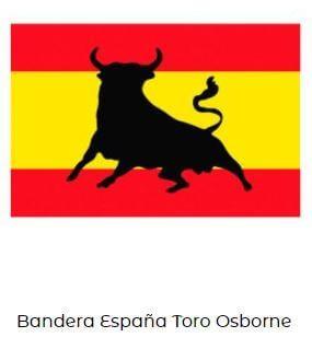 bandera España toro sanfermines