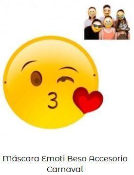 careta de emoji lanzando beso