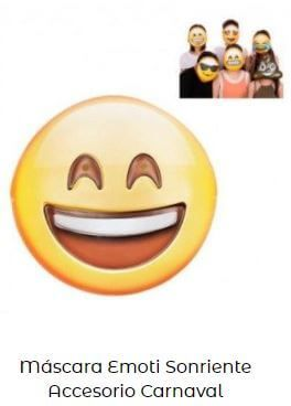 careta de emoji sonriendo