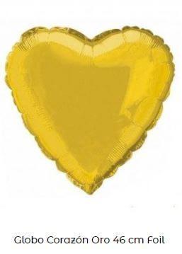 decoración con globos amarillos corazón