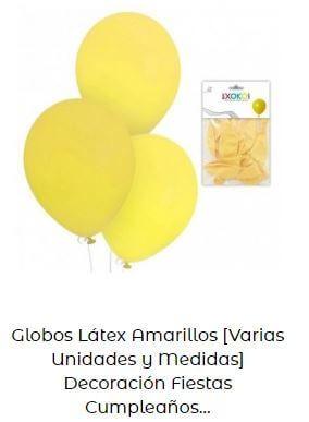 decoración con globos amarillos día feliz año
