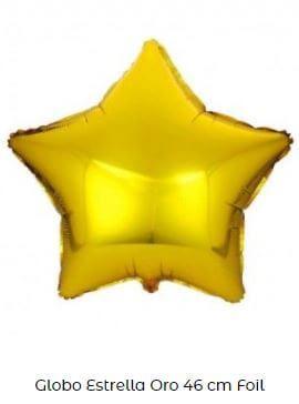 decoración con globos amarillos estrella