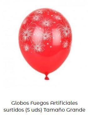decoración con globos verbena san juan fuegos artificiales