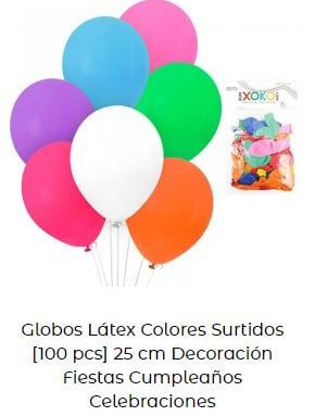 decoración con globos verbena san juan multicolor