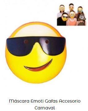día más feliz año máscara emoji feliz gafas