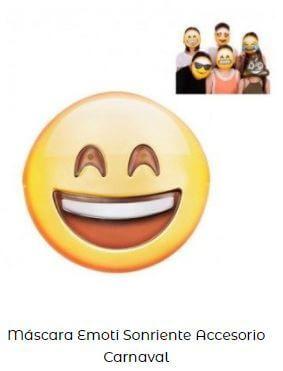 día más feliz año máscara emoji sonriente