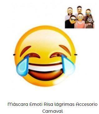 día más feliz año máscara emoji riendo