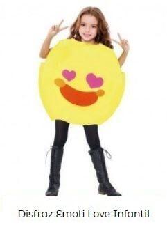 disfraz emoji love enamorado infantil