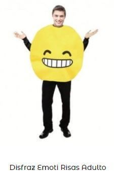 disfraz emoji risa sonrisa adulto