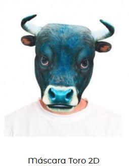 máscara disfraz toro para los encierro san Fermín