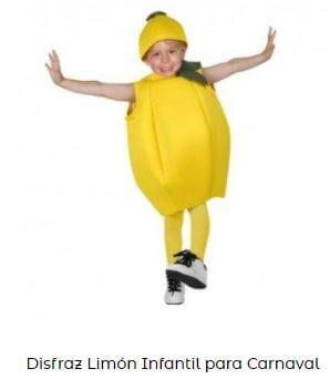 disfraz para Yellow Day limón