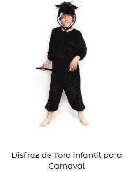 disfraz toro para los encierro san Fermín infantil