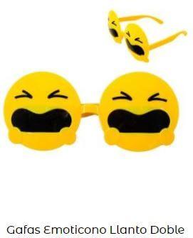 gafas emoticono gritando