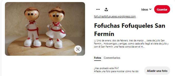 taller niños para san Fermín fofuchas
