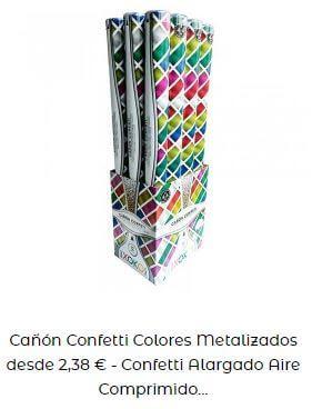 verbena de San Juan cañón multicolor metalizado confeti
