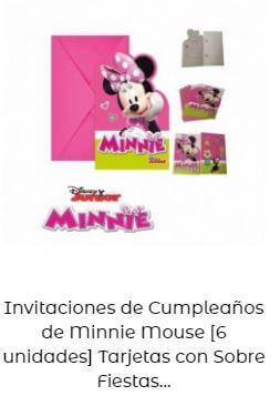 cumpleaños Mickey Minnie decoración invitaciones