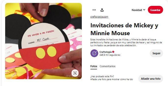 cumpleaños Mickey decoración invitaciones
