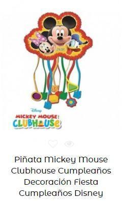cumpleaños Mickey decoración piñata