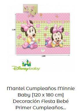 decoración Mickey Minnie bebé mantel