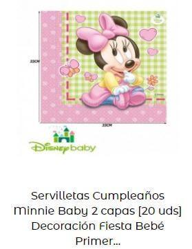 decoración Mickey Minnie bebé servilletas mesa