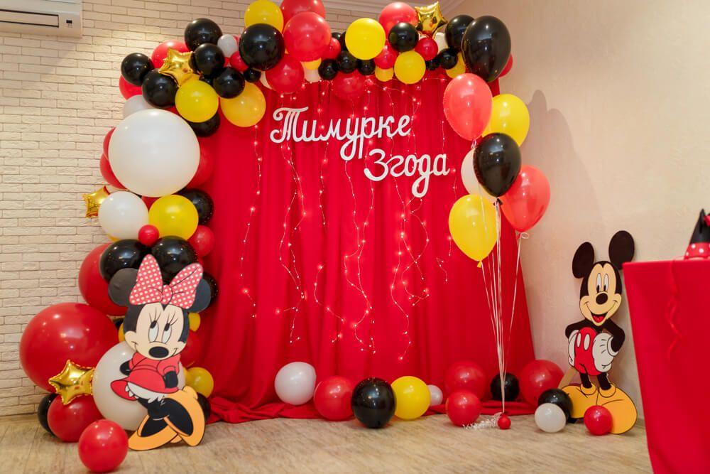 decoración cumpleaños Mickey Mouse